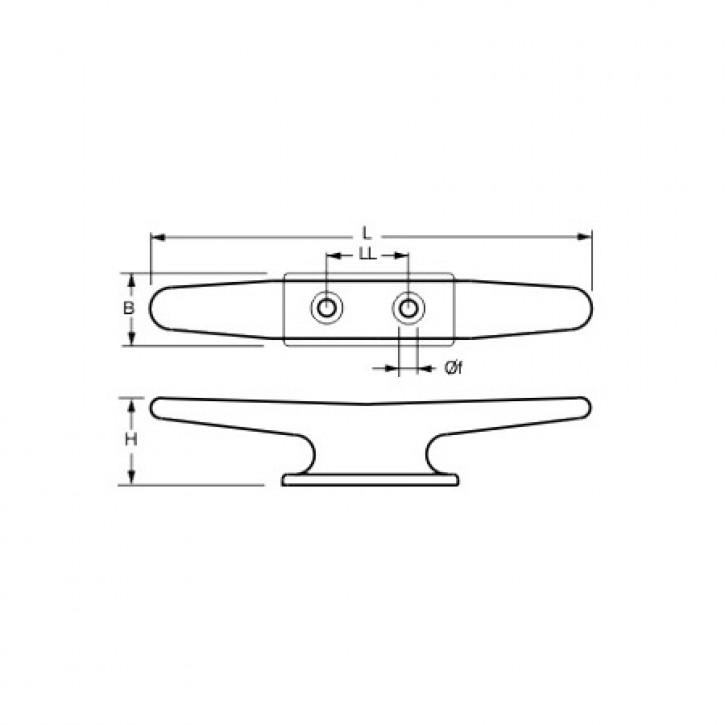 Belegklampe aus Kunststoff  125 mm schwarz