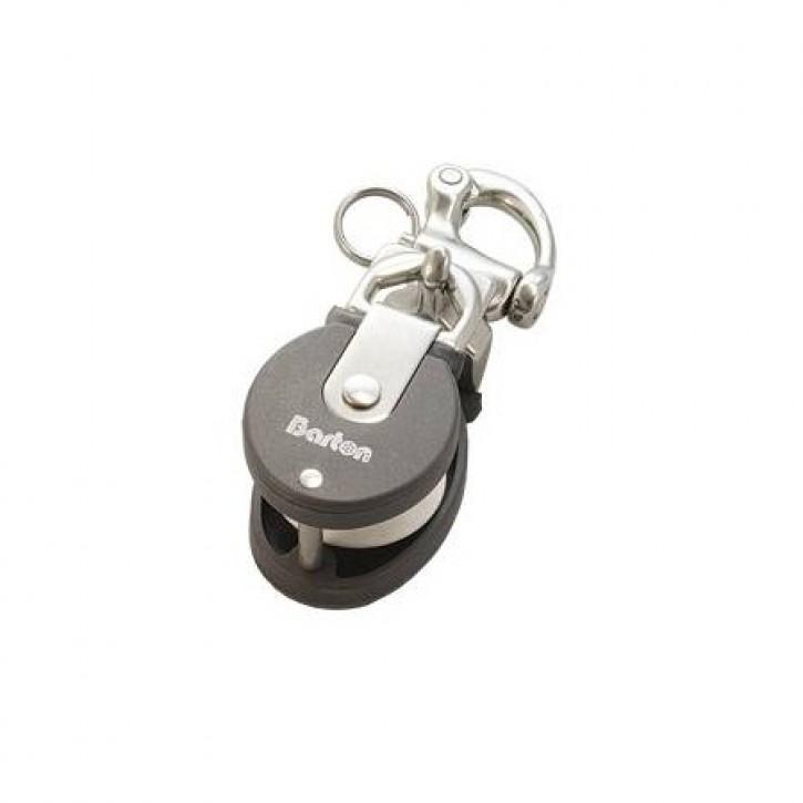 Snatchblock Mini mit Schnappschäkel Edelstahl