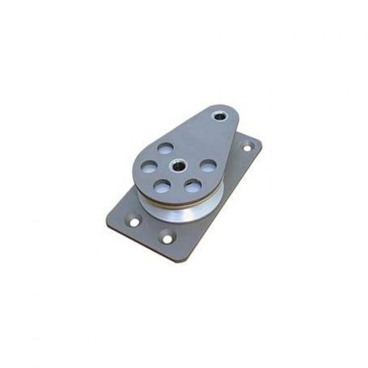 Einf. Fallblock liegend Aluminiumscheibe 63 mm
