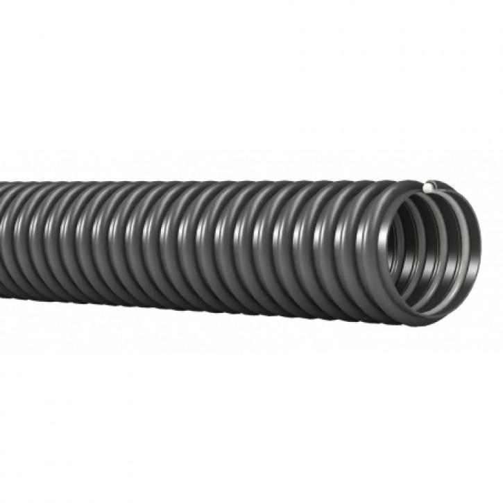 Ablaufschlauch grau mit Hart-PVC-Spirale Innen-Ø 19 mm pro mtr.