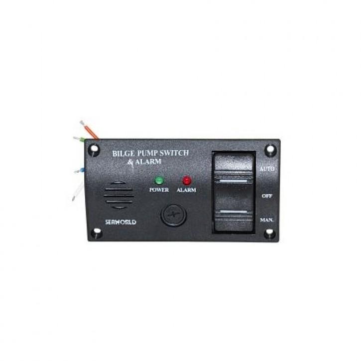 Bilge-Alarm mit Pumpenschalter 12V