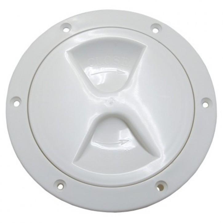 Inspektionsdeckel weiß leichte Ausführung 205 mm