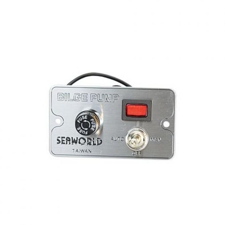 Seaworld Schalttafel für Bilgepumpen 12V