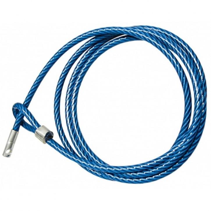 Sicherungsseil 2,5 m blau ummantelt