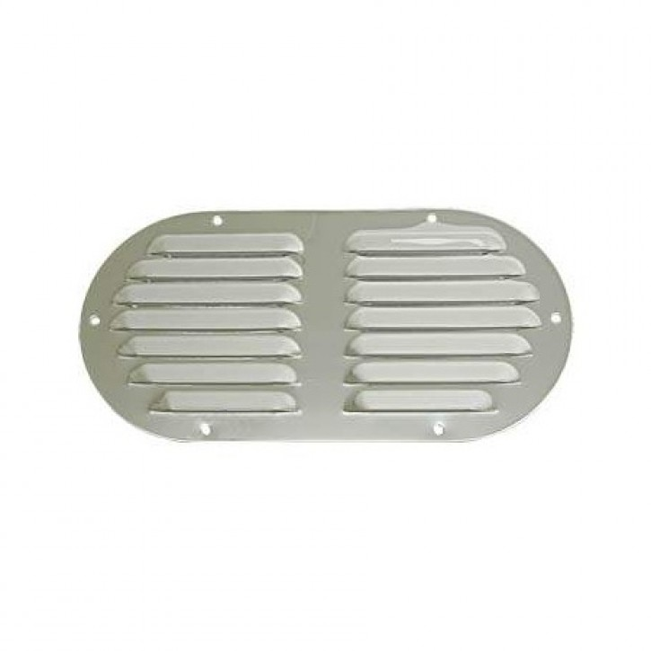 Kiemenblech Edelstahl oval 233x116 mm