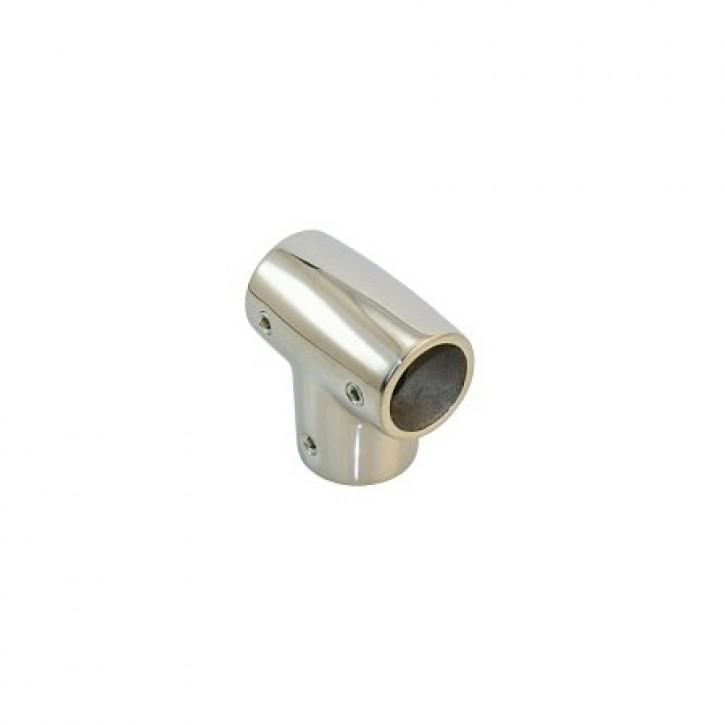 Edelstahl Relingsbeschlag T-Stück 25 mm 90°
