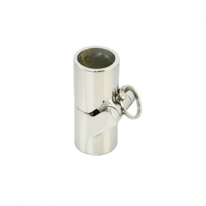 Edelstahl Rohrverbinder für 25 mm klappbar