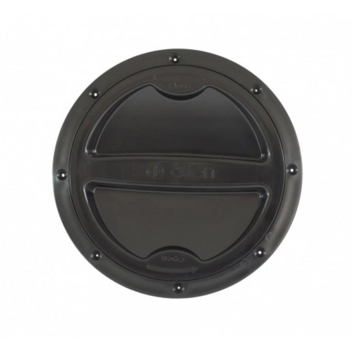 Inspektionsdeckel 134 mm schwarz