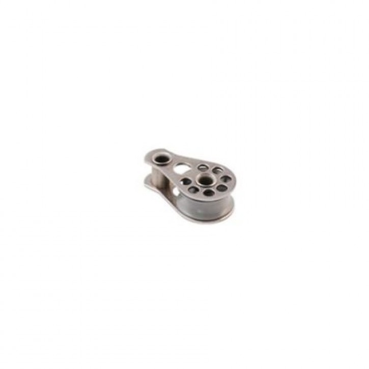 Super Mini Block mit Scheibe 15x6 mm max. 5 mm Leine