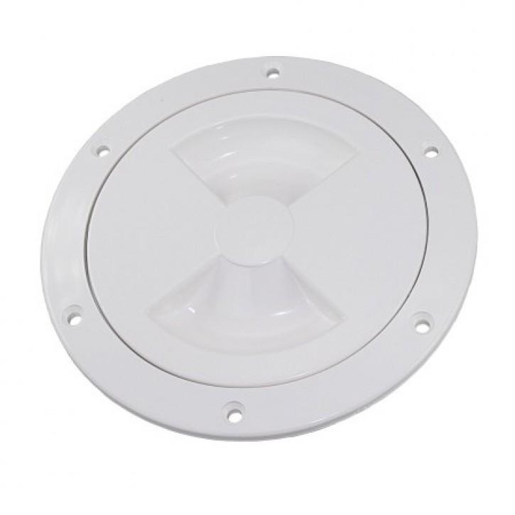 Inspektionsdeckel 102 mm weiß