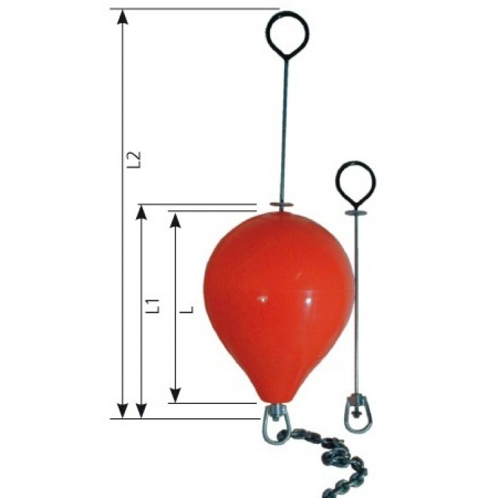 Polyform Bojenkörper CM-3 rot Ø 470 mm