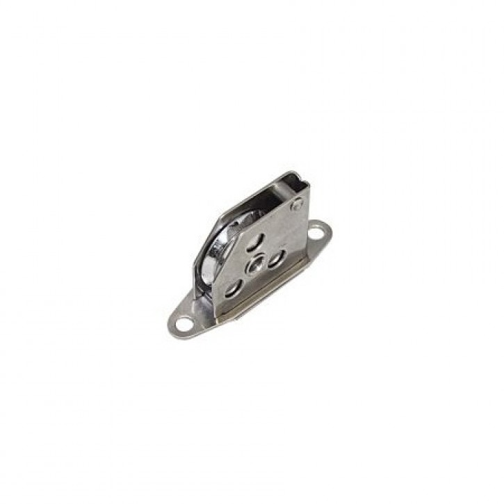 Drahtfall-Mastrollenkasten verstärkt 25 x 6mm Messing verc.
