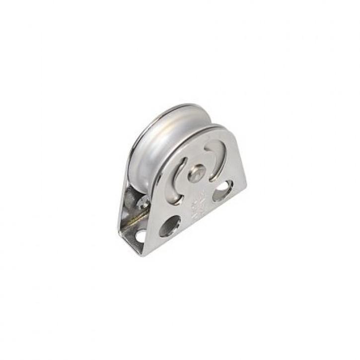 Drahtbockrolle vertikal/horiz 38 x 10mm Aluminium