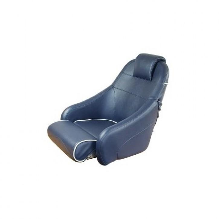 Bootssitz weiß mit blauer Kedernaht