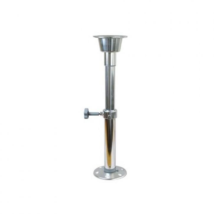 Tischbein verstellbar 50 - 70 cm Fuß zum Schrauben