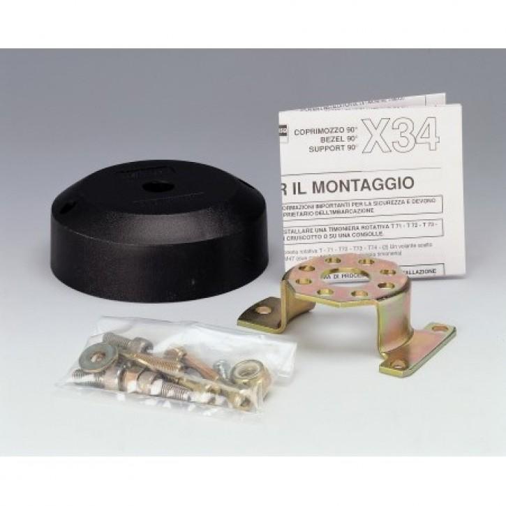 Montageplatte 90° schwarz