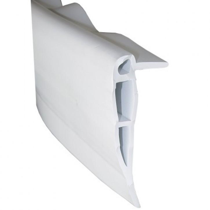 Stegfenderprofil PVC1543 weiß 4 m Länge
