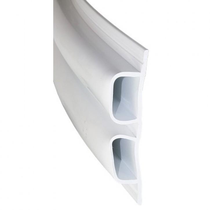 Stegfenderprofil PVC 1893 weiß 4 m Länge