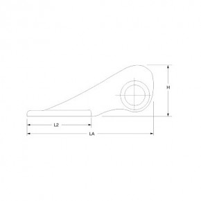 YS-Bugbeschlag mit Ankerrolle Alum.elox. 160 mm