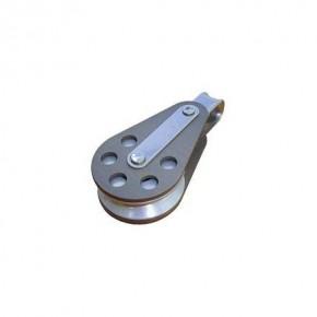 Einf. Fallblock mit festem Auge Aluminiumscheibe 63 mm
