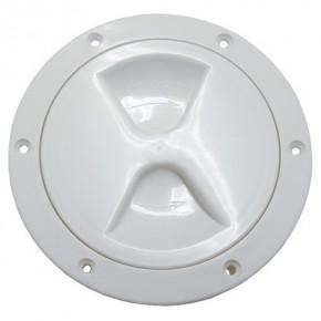 Inspektionsdeckel weiß leichte Ausführung 145 mm