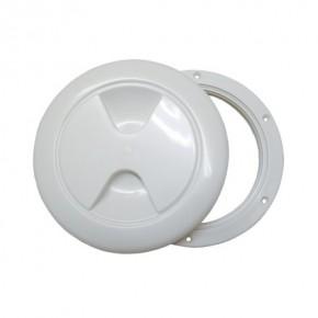Inspektionsdeckel weiß 145 mm