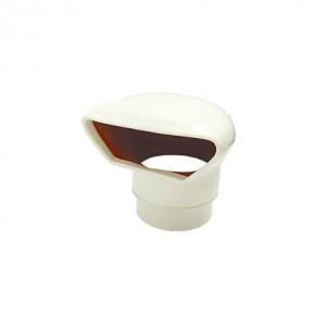 Hutzenlüfter aus PVC  100 mm flach