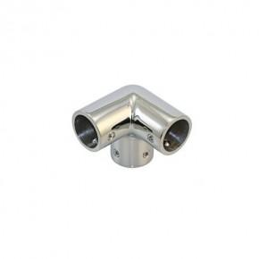 Edelstahl Relingsbeschlag Eckverbinder 25 mm