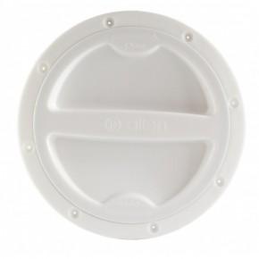 Inspektionsdeckel 134 mm weiß